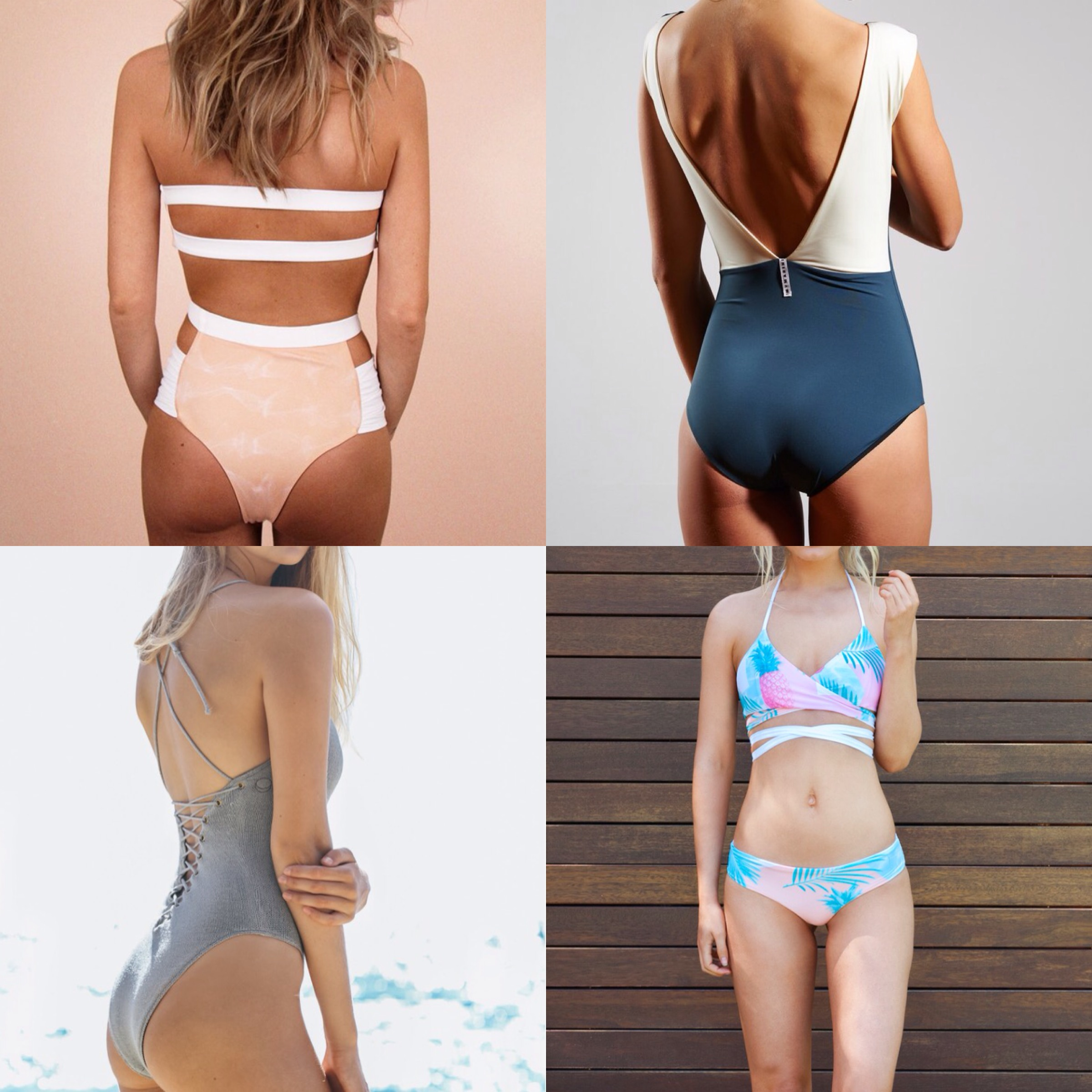 91bc4952ac5 Top left: Bikini by Amara, a brand manufacturing its fabric in a green  energy facility, creating bikinis with quality and sustainability in mind.